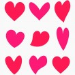 Valentine hearts collection — Stock Vector #70942581