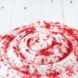 Red velvet cake close up — Stock Photo #54963439