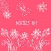 Postcard mothers day — Vetor de Stock