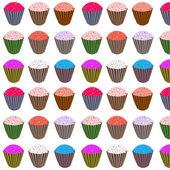 Sweety cupcakes — Stock Vector