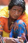 Indiase vrouw — Stockfoto
