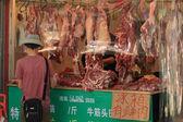 Meat Shop Sales Woman — Stock Photo