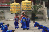 The Ceremony of the Ming Grave from the Emporer Yongle — Fotografia Stock