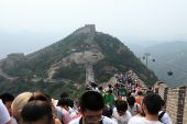 Crowded People at the Great Chinese Wall of Badaling — Stock Photo