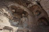 Budas del gruta de Yungang monasterio de Datong en China — Foto de Stock
