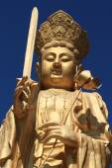 The golden Buddha of Wutai Shan in China — Stock Photo