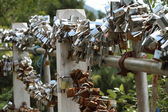 Token of Love Padlock — Stock Photo