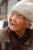 An Very Old Woman from China — Stock Photo