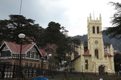 Christ Church in the city of Shimla in India — ストック写真