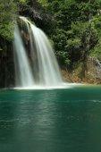 十六湖国家公园和克罗地亚的瀑布 — 图库照片