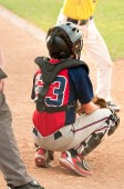 Teen Baseball Catcher — Stock Photo