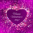Happy Valentine Day Card with bokeh lights — Stock Vector #61185679
