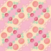 Seamless pattern of yellow green and pink  colored buttons — Vettoriale Stock