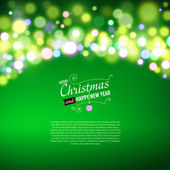 Holiday background with bokeh lights — Stock Vector