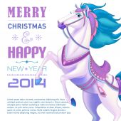 Card for 2014 year of Horse — Stock Vector
