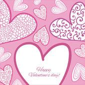 Happy Valentine Day Card. — Vetor de Stock