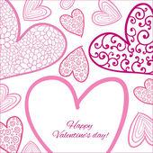 Happy Valentine Day Card. — Stockvektor