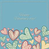 счастливая карта дня святого валентина. — Cтоковый вектор