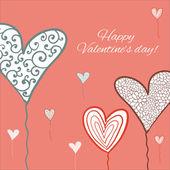 Happy valentine dag kaart. — Stockvector