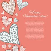 Happy Valentine Day Card. — Stock Vector