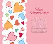Открытка с Днем Святого Валентина. — Cтоковый вектор