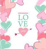 Cartão-postal para dia dos namorados — Vetor de Stock