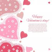 Happy Valentine Day Card. — Stock Vector