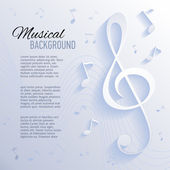 Paper background with music notes — ストックベクタ