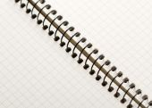 Open Spiral Notebook blank paper  — Foto Stock