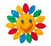 Plasticine smiling flower  — Stock Photo