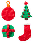 Plasticine Christmas set — Stock Photo