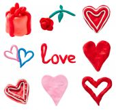Set of Valentines heart — Stock Photo