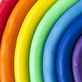 Plasticine rainbow — Stock Photo