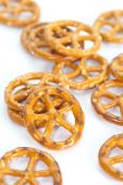 Close - up Baked bread pretzel snack — Stock Photo