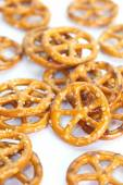 Close - up Baked bread pretzel snack — Stock Photo