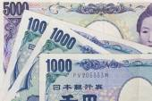 Japanese currency yen bank note — Stock Photo