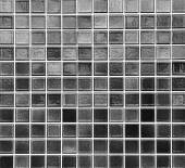 Black mosaic tile wall — Stock Photo