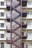Kovové požární schodiště — Stock fotografie