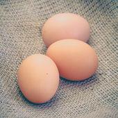 Chicken brown eggs — Stock Photo