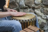 Drum and percussion — Stock Photo