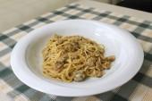 Spaghetti con le vongole — Foto Stock
