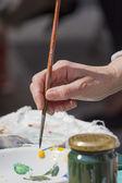 Hand painting — Stock Photo