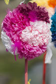 Handmade paper flowers — Stock Photo