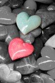 Colored heart stones — Stock Photo