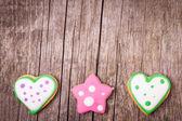 Pepparkakor cookies bakgrund — Stockfoto