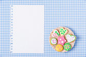 Gingerbread cookies background — Stock Photo