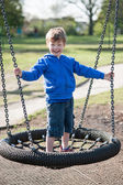 Happy Laughing Boy in the Park — Stock Photo