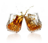 Cheers. A Toast with Whiskey. — Stock Photo