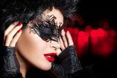 Creative Artistic Masquerade Makeup. High Fashion Portrait — Stock Photo