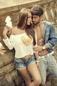 Sensual couple  — Stock Photo